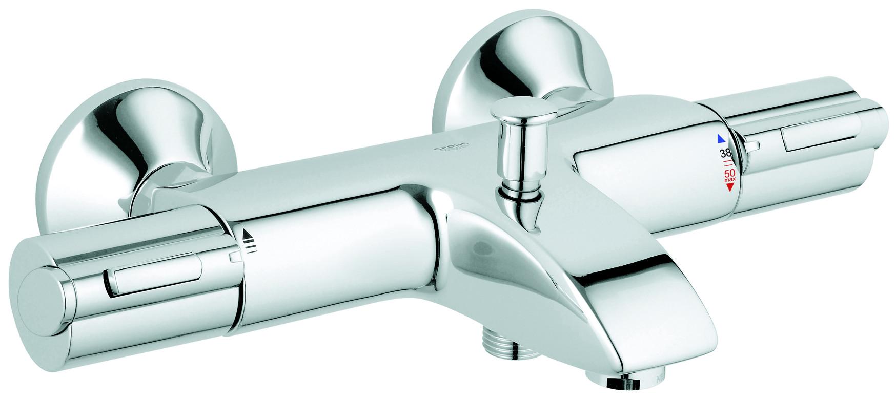 Robinetterie salle de bain et cuisine pour les - Mitigeur thermostatique baignoire grohe ...