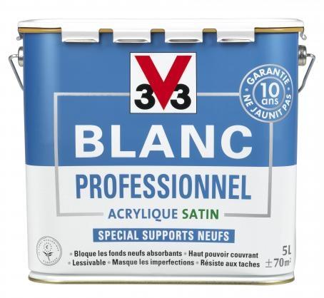 blanc pro acrylique satin v33